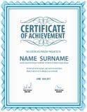 Horizontale Weinlesezertifikatschablone, Diplom, Buchstabegröße, Lage lizenzfreie abbildung