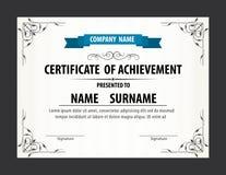 Horizontale Zertifikatschablone, Diplom, Buchstabegröße, Vektor lizenzfreie abbildung