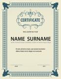 Horizontale Zertifikatschablone, Diplom, Buchstabegröße, Vektor vektor abbildung