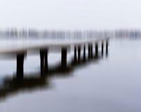 Horizontale zwart-witte de kadebrug van het motieonduidelijke beeld Royalty-vrije Stock Foto