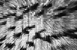 Horizontale zwart-witte piramides bedrijfsabstractie Stock Afbeeldingen