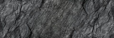 horizontale zwarte steentextuur voor patroon en achtergrond Stock Fotografie