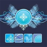 Horizontaler Aufbau des Winters stock abbildung