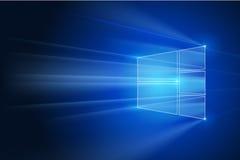 Horizontaler blauer abstrakter Hintergrund Auch im corel abgehobenen Betrag Blaulichthimmel-Zusammenfassungstechnologie Lizenzfreie Stockfotos