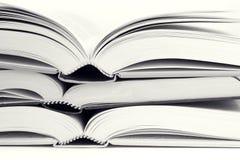 Horizontaler Buchstapel Stockbild