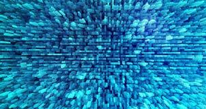 Horizontaler cyan-blauer verdrängter Blockhintergrund Stockfotografie