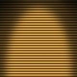 Horizontaler Goldrohrhintergrund beleuchtet von den Unkosten vektor abbildung
