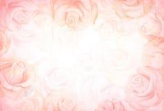 Horizontaler Hintergrund der abstrakten romantischen Rose lizenzfreie abbildung