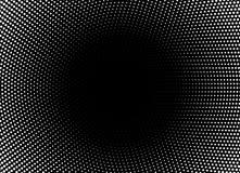 Horizontaler Hintergrund des Halbtonkreisrahmens Schwarze weiße Kreisgrenze unter Verwendung der Halbtonpunktbeschaffenheit Vekto lizenzfreie stockfotos