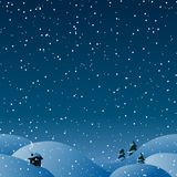 Horizontaler Hintergrund des nahtlosen Winters für Ihr Weihnachtsdesign Stockfoto