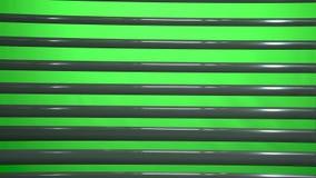 Horizontaler Jalousie das Licht drehen und einschalten Grüner Bildschirm stock footage