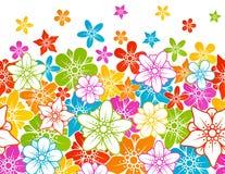 Horizontaler nahtloser mit Blumenhintergrund Lizenzfreie Stockbilder