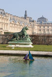 Boot vom des Loujvres Garten Paris Stockfoto