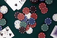 Horizontaler Poker Stockfotografie