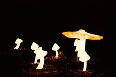 Horizontaler psychedelischer Pilze bokeh Hintergrund Lizenzfreies Stockbild