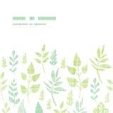 Horizontaler Rahmen der Textilstrukturierten Federblätter Lizenzfreies Stockbild