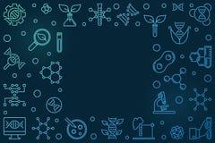 Horizontaler Rahmen des bunten Entwurfs der Vektor-Biotechnologie lizenzfreie abbildung