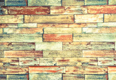 Horizontaler Rahmen des psychedelischen bunten Backsteinmauerhintergrundes Lizenzfreies Stockfoto