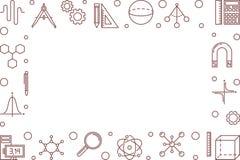 Horizontaler Rahmen Vektor STAMMES Wissenschaftsvektorillustration stock abbildung