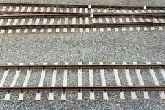 Horizontaler Schieneneisenbahnfrühling Lizenzfreies Stockbild