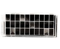 Horizontaler Schwarzweiss-Fensterpatchwork-Illustrationshintergrund Stockbilder