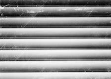 Horizontaler Schwarzweiss-Weinlese metall Beschaffenheitshintergrund Lizenzfreie Stockfotos
