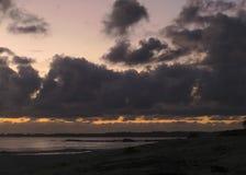 Horizontaler Sonnenuntergang Lizenzfreies Stockfoto