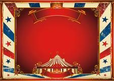 Horizontaler Zirkushintergrund der Weinlese mit Zirkuszelt Stockbild