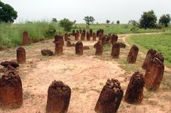 Horizontales Bild der Wassu Steinkreise Lizenzfreie Stockfotos