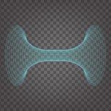 Horizontales digitales Rohr auf transparentem Hintergrund Vektor Abbildung