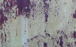 Horizontales Foto der rostigen Beschaffenheit des Eisens Stockfotos