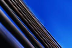 Horizontales klares blaues Buch paginiert Abstraktion Stockfotografie