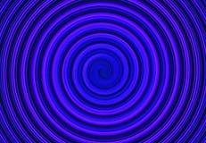 Horizontales Kurvenmuster des blauen Zusammenfassungsspiralenkreises Lizenzfreies Stockbild
