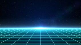 Horizontales Matrixgitter im Raum stockfotos