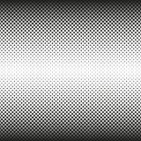 Horizontales nahtloses Halbton von Quadraten verringert sich auf Mitte, auf weißem Hintergrund Contrasty Halbtonhintergrund Vekto Stockfotografie