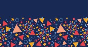 Horizontales nahtloses Muster der abstrakten Feier Stockbilder