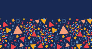 Horizontales nahtloses Muster der abstrakten Feier stock abbildung