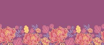 Horizontales nahtloses Muster der magischen Blumen Lizenzfreie Stockfotografie