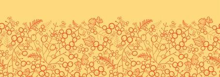 Horizontales nahtloses Muster der süßen Beeren Stockbilder