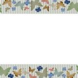 Horizontales nahtloses Muster des Aquarells mit Schmetterlingen auf weißem Hintergrund Stockfoto