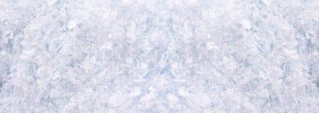 Horizontales Panorama mit Schnee Stockfotos