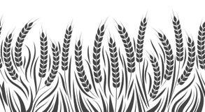 Horizontales Weizenmuster der Ernte stock abbildung