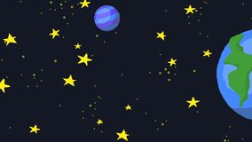 Horizontal scroll space galaxy animation