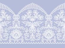 Seamless white lace vector illustration