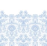 Seamless blue lace Stock Photo