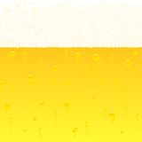 Horizontally seamless bubbling beer background Royalty Free Stock Images