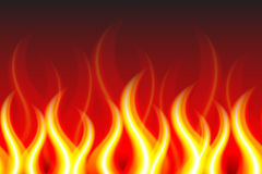 Horizontally Seamless Fire Pattern Stock Photography