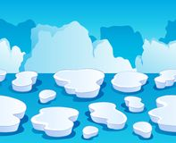 Horizontally seamless sea ice 1 Royalty Free Stock Photos