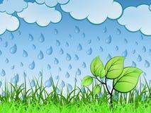 Horizontally Seamless Spring Banner stock illustration