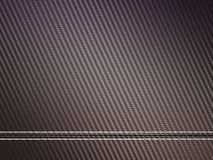 Horizontally Stitched carbon fibre. Useful as texture or background Royalty Free Stock Photos